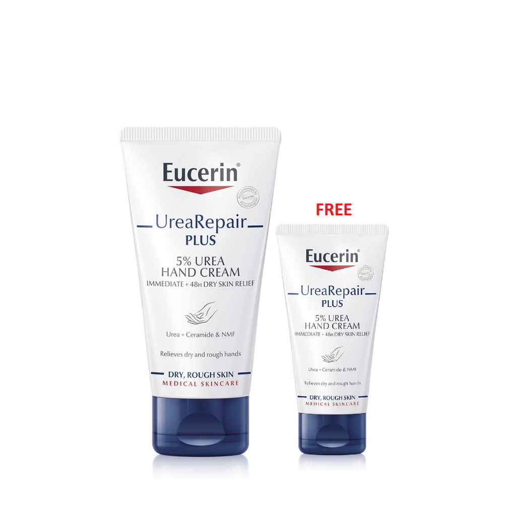 Eucerin Extra Hand Care Offer: UreaRepair Dry Skin Hand Cream + 30ml Free
