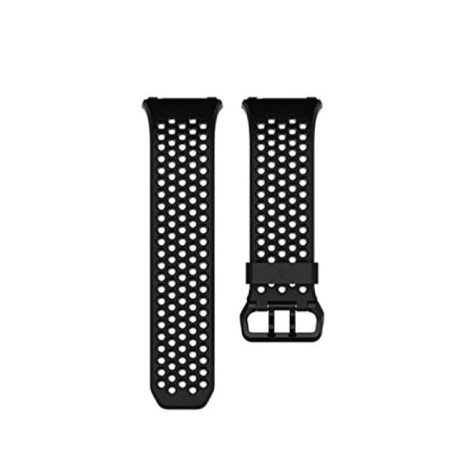 FitBit Ionic Sport Band - Perforated Black Gray