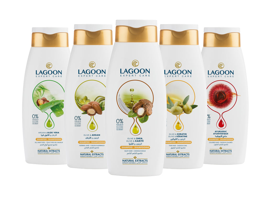 Lagoon Natural Extracts Shampoo for All Hair Types - Argan & Aloe Vera