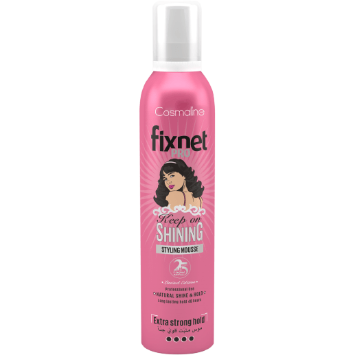 Cosmaline  Fixnet Pro Keep On Shining Styling Mousse Limited Edition