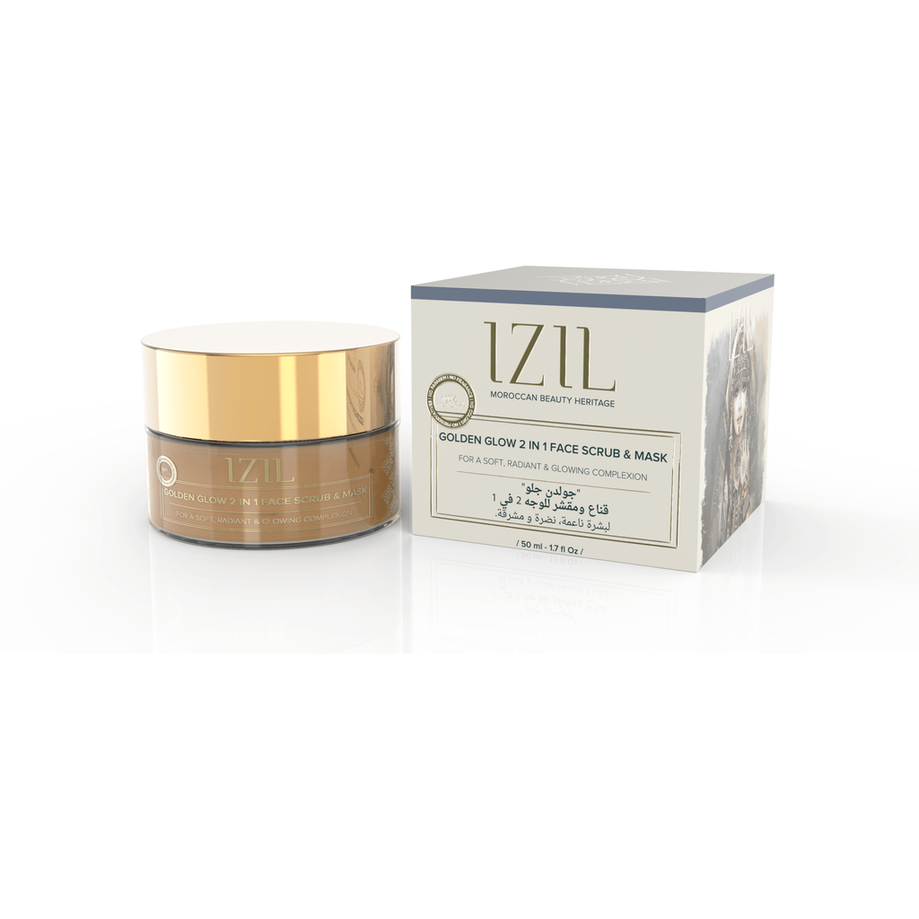 Izil Golden Glow 2-in-1 Face Scrub & Mask