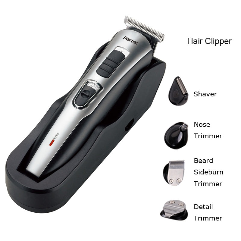 Paiter Rechargeable Electric Hair Grooming Shaver Set for Men