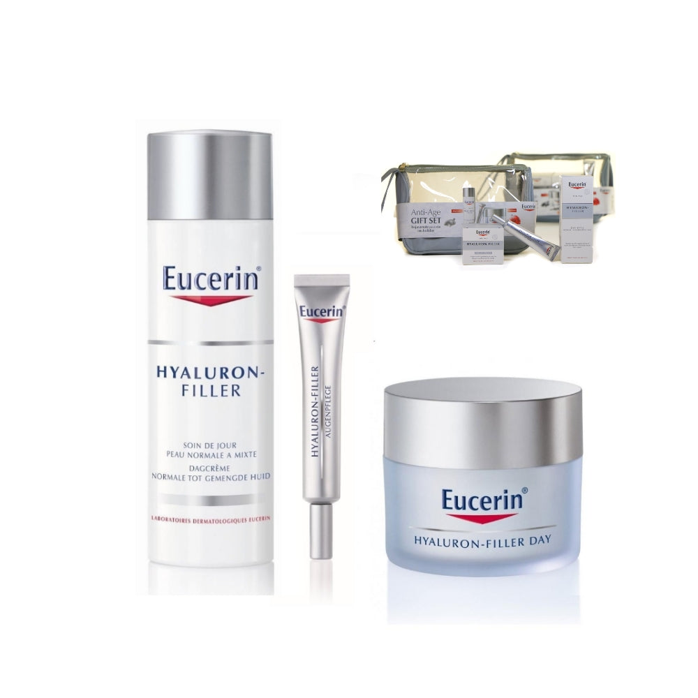 Eucerin Anti-Age Gift Set - Hyaluron Filler (Day + Night + Eye Care)