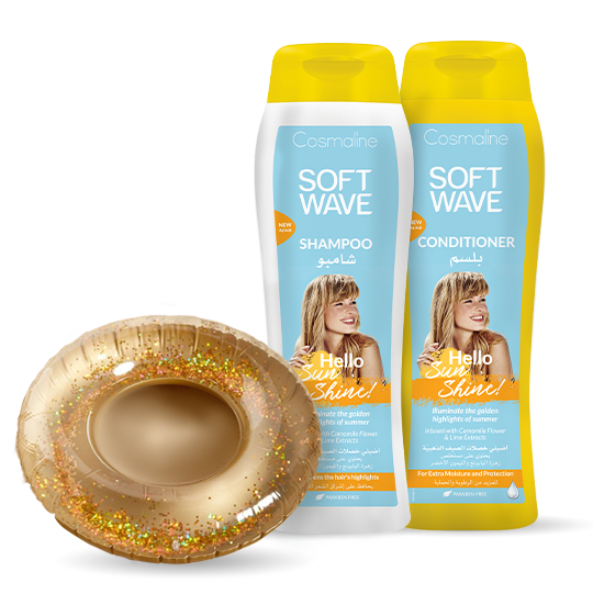 Cosmaline Soft Wave Hello Sunshine Summer Bundle + Gold Sparkles Cup Holder