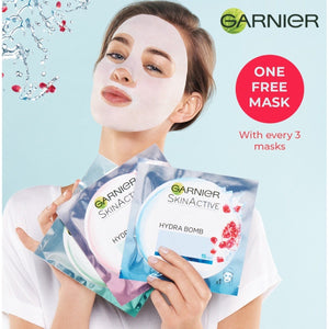 FREE Garnier Hydra Bomb Sheet Mask - with purchase of any 3 Hydrabomb Masks