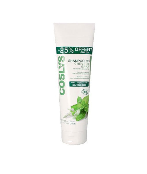 Coslys Shampoo for Oily Hair with Organic Peppermint