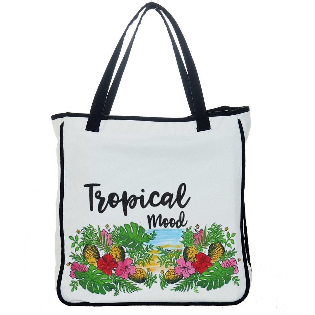 "Reets Limited Edition Hand Painted Beach Bag: ""Tropical Mood"""