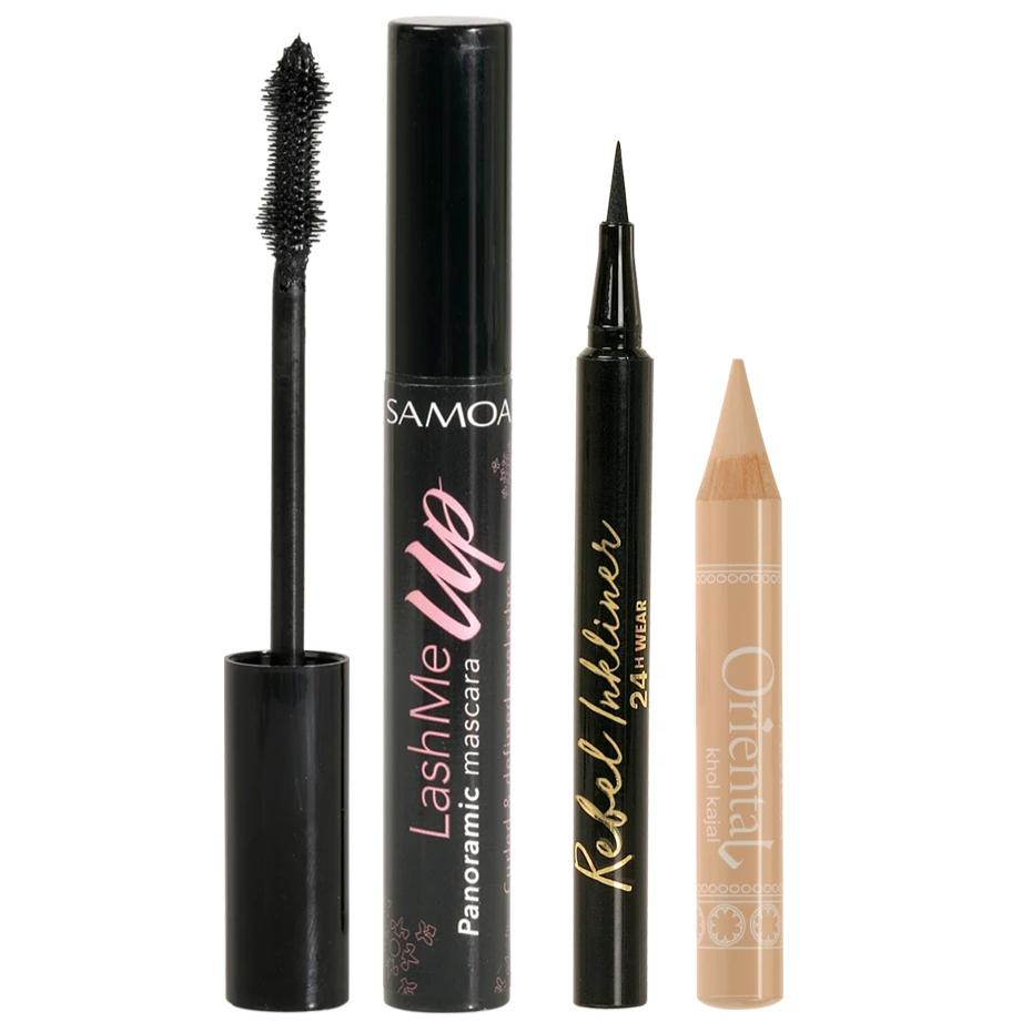 Samoa Dramatic Eyes Bundle: Mascara + Eyeliner + Kohl Kajal
