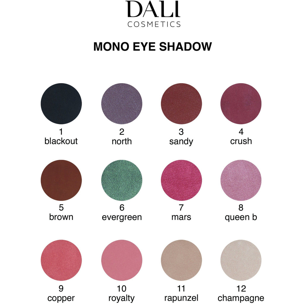 Dali Cosmetics Mono Eyeshadow - New 2018 Collection