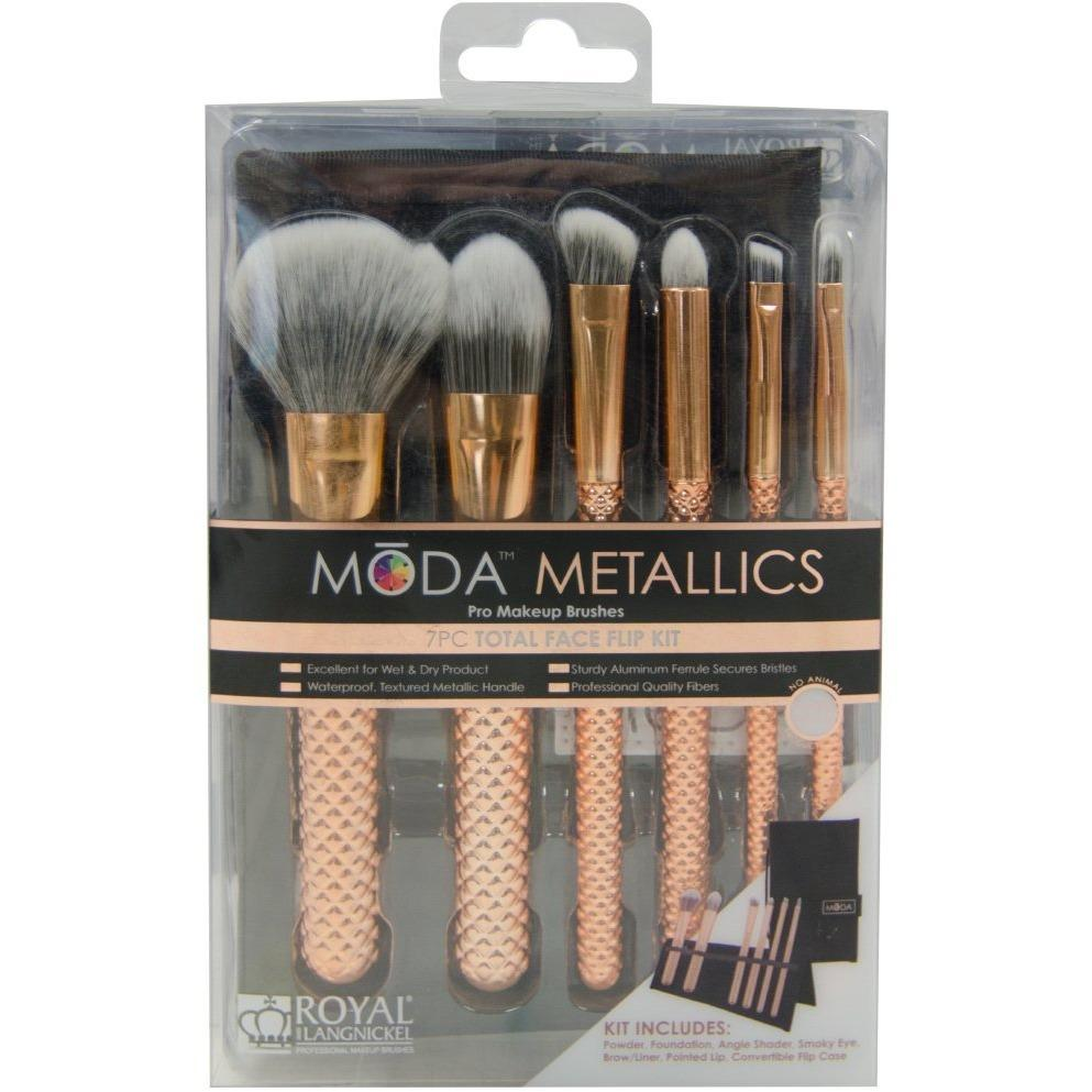 Royal & Langnickel Moda Metallics 7Pc Rose Gold Total Face Kit