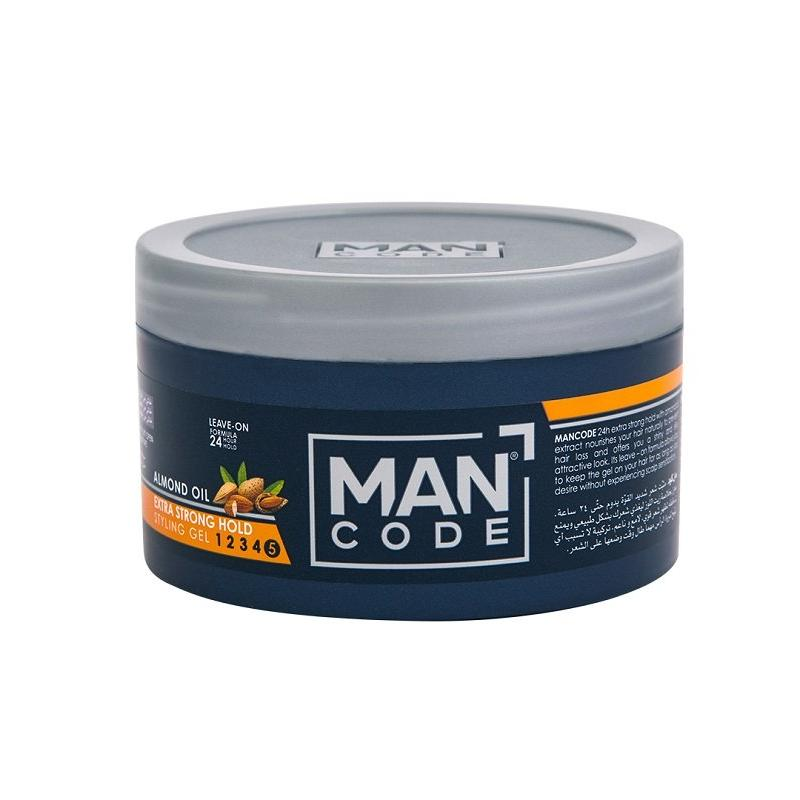 Mancode Hair Gel Extra Strong Hold with Almond Oil