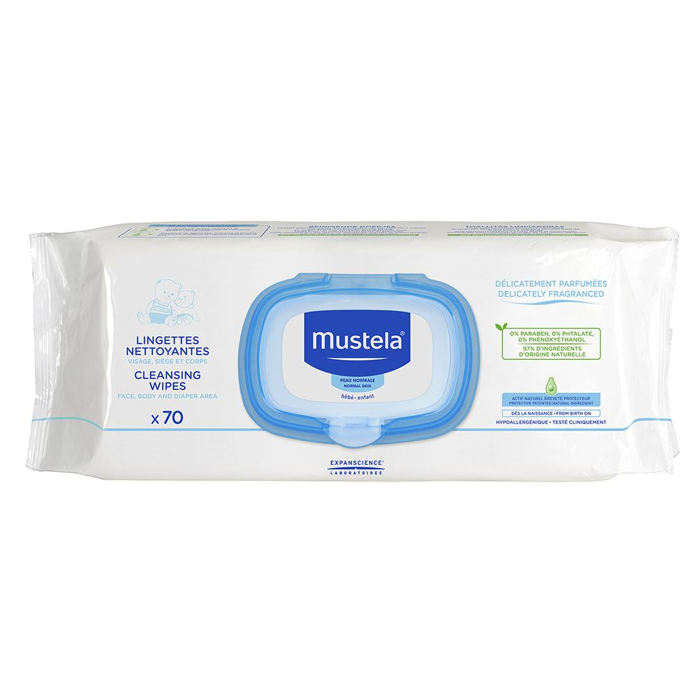 Mustela Normal Skin Delicately Fragranced Cleansing Wipes