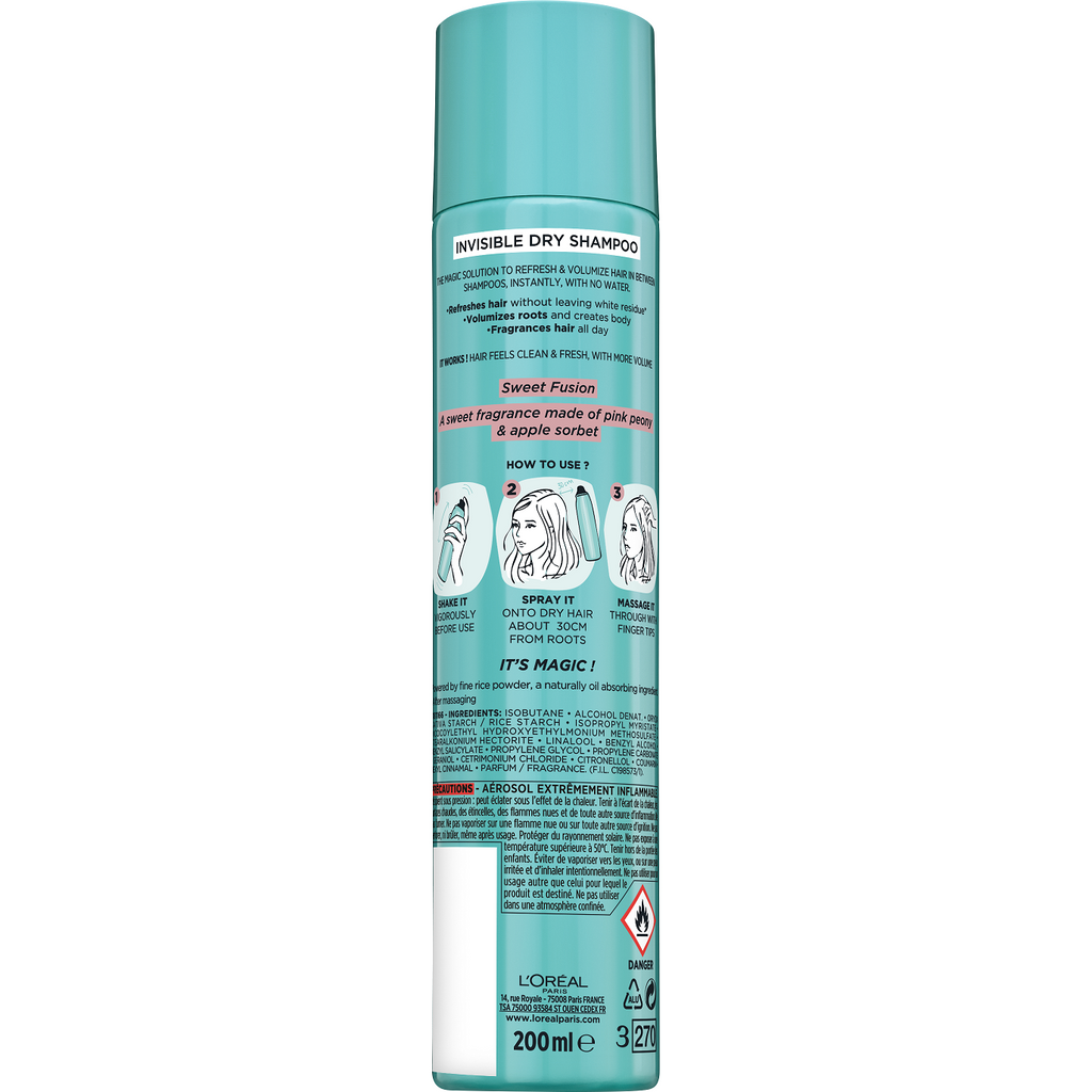 L'Oreal Paris Magic Invisible Dry Shampoo Sweet Fusion