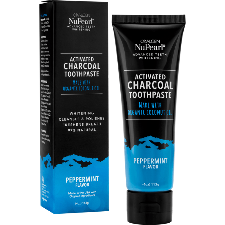 Oralgen NuPearl Activated Charcoal Toothpaste (2 Flavors Available)