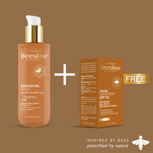 Beesline Suntan Oil Gold + Free Tinted Cream SPF100