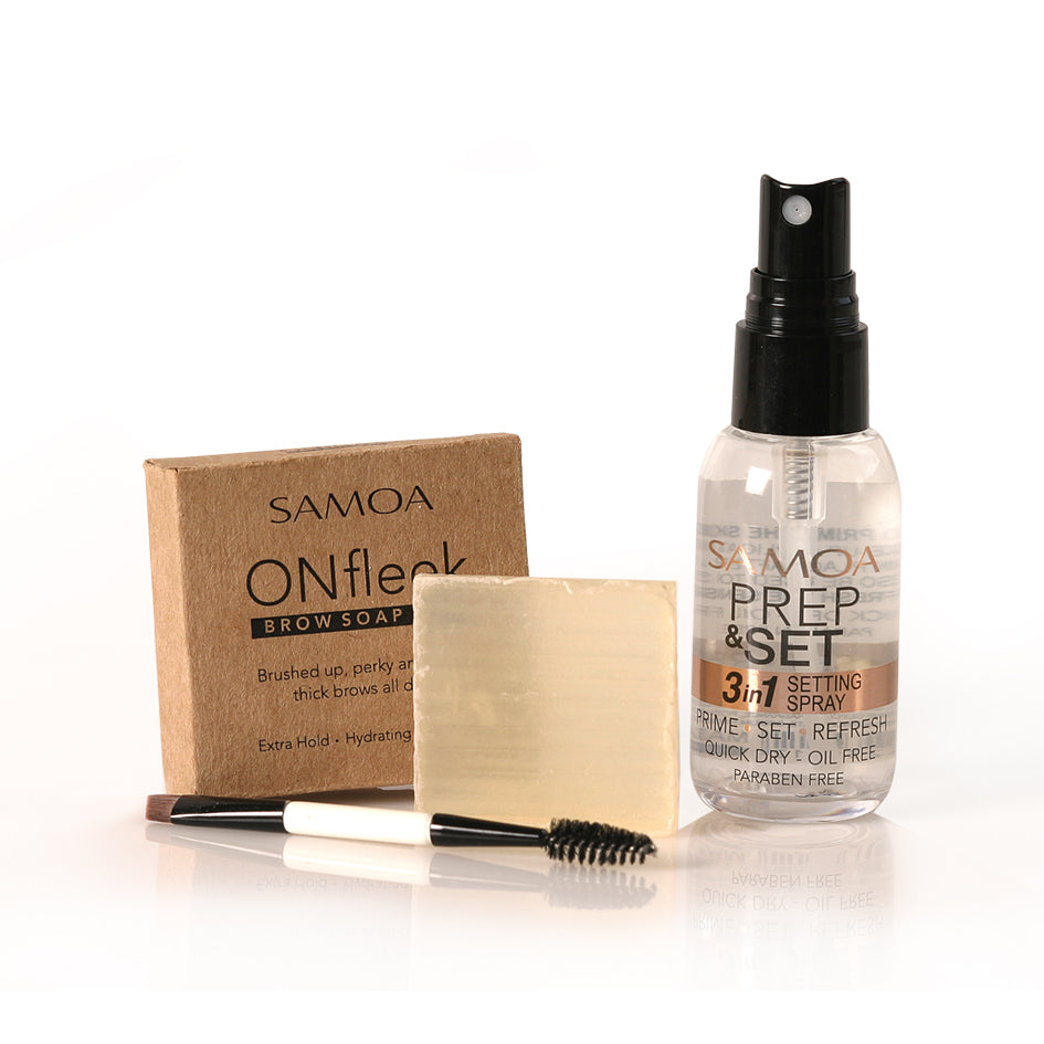 Samoa ONfleek Soap Brow Offer : Prep & Set + Soap Bar + Brush