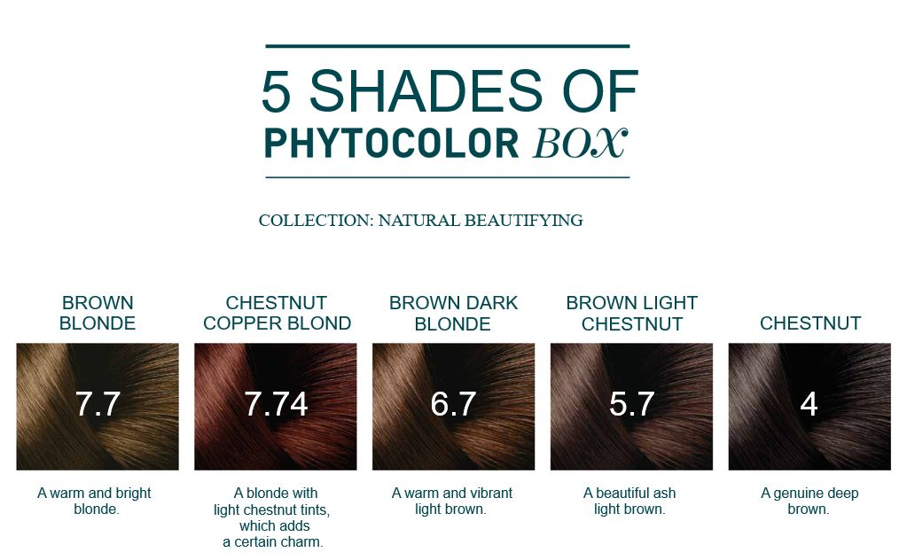 Phyto Color Box Permanent Hair Coloring At-Home Salon-Grade Kit - 9 Items