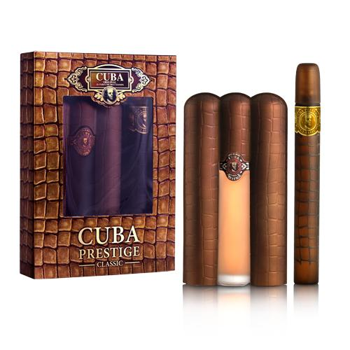 Cuba Prestige Classic Eau de Toilette for Men Gift Set
