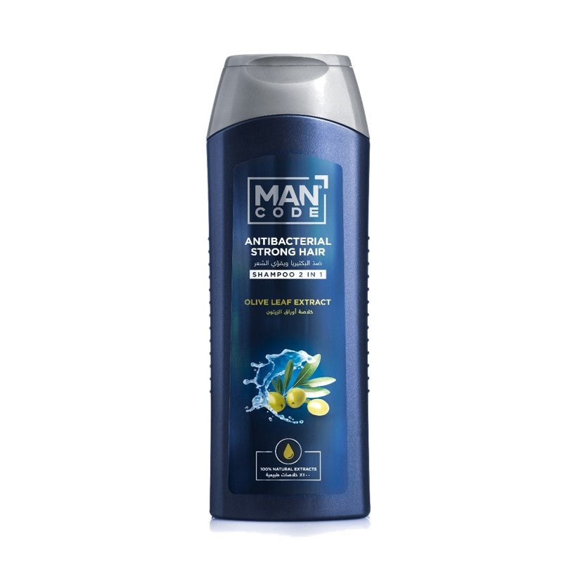 Mancode 2in1 Antibacterial & Strong Hair Shampoo With Olive Leaf Extract 400ml