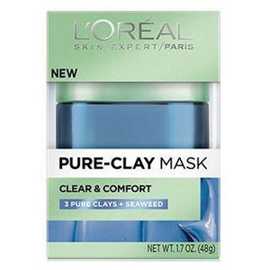 L'Oreal Paris Pure Clay Mask: Clears Blackheads & Shrinks Pores - Marine Algae