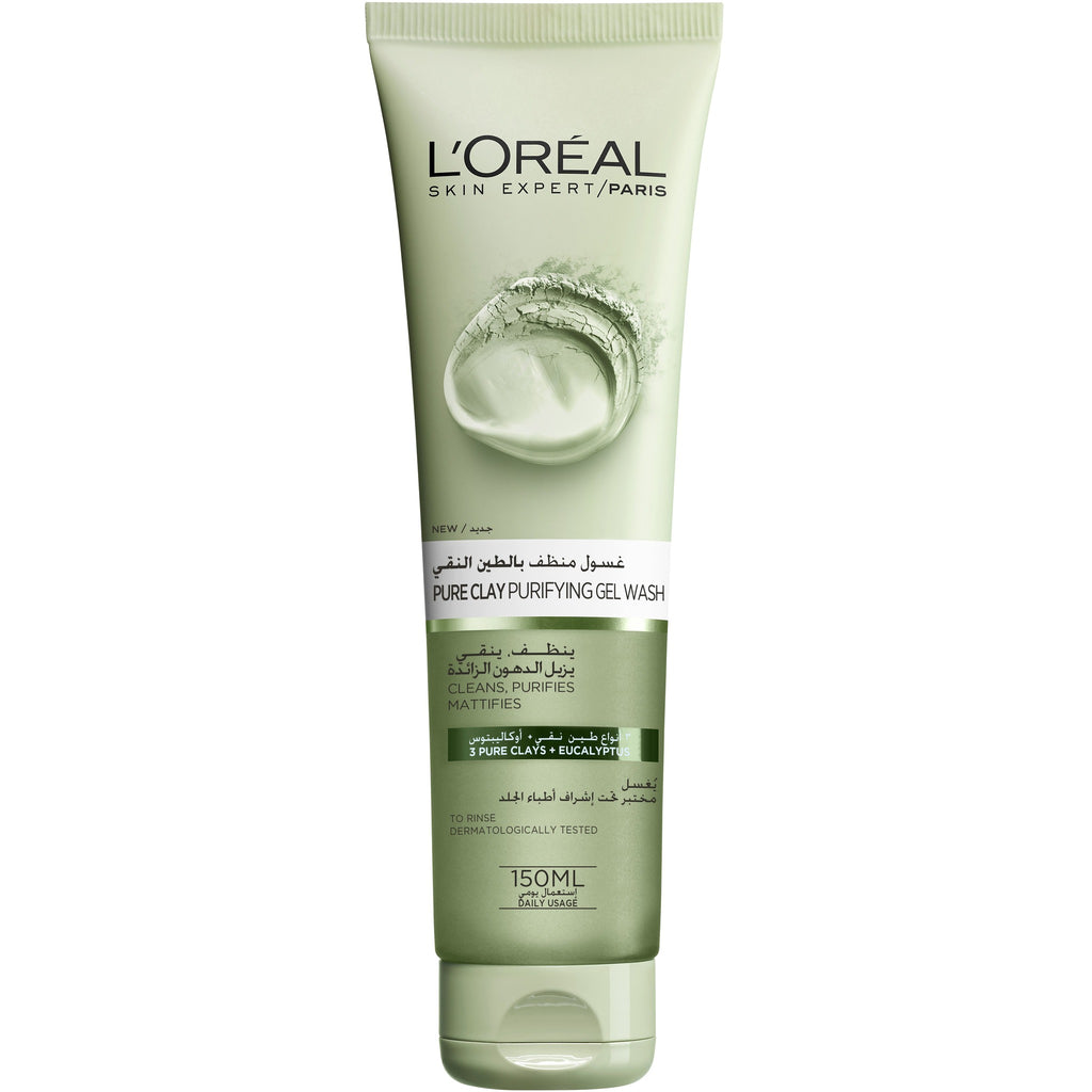 L'Oreal Paris Pure Clay Gel Wash: Purifies & Mattifies - Eucalyptus