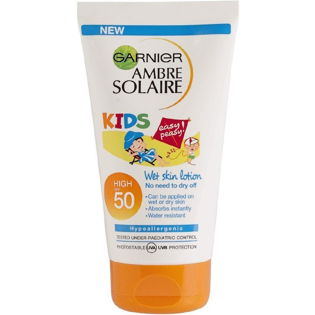 Garnier Ambre Solaire Kids Easy Peasy Wet Skin Lotion SPF50
