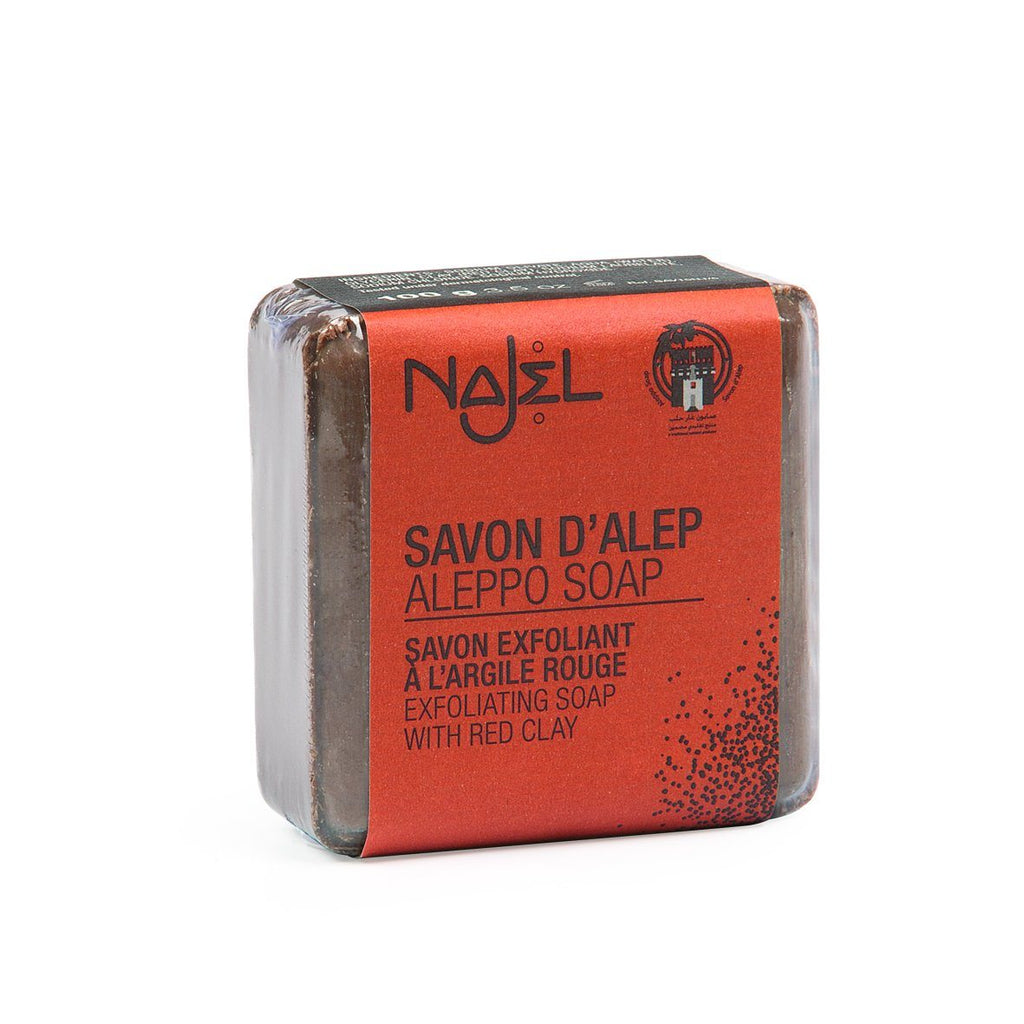 Najel Aleppo Soap with Red Clay