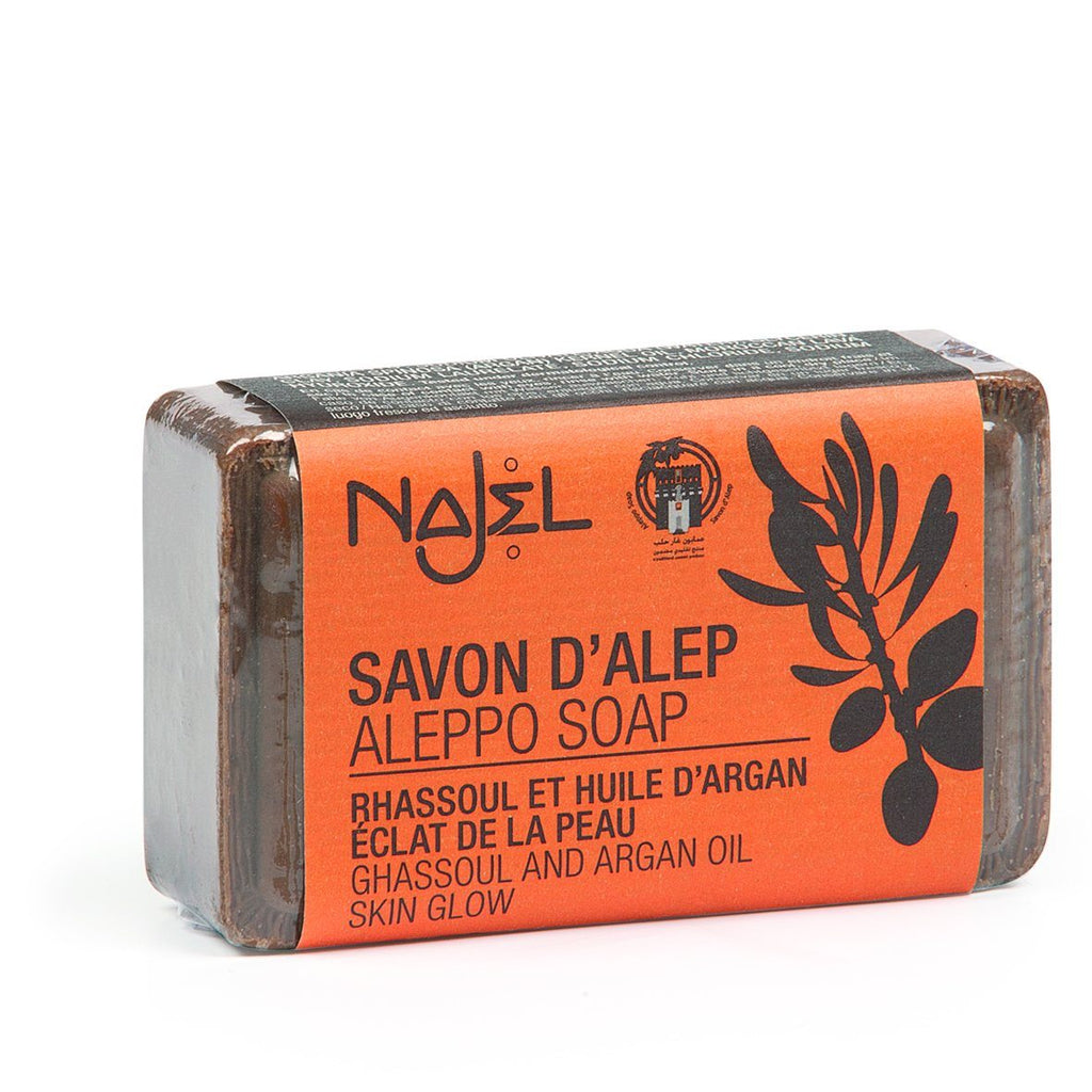 Najel Aleppo Soap with Rhassoul & Argan Oil