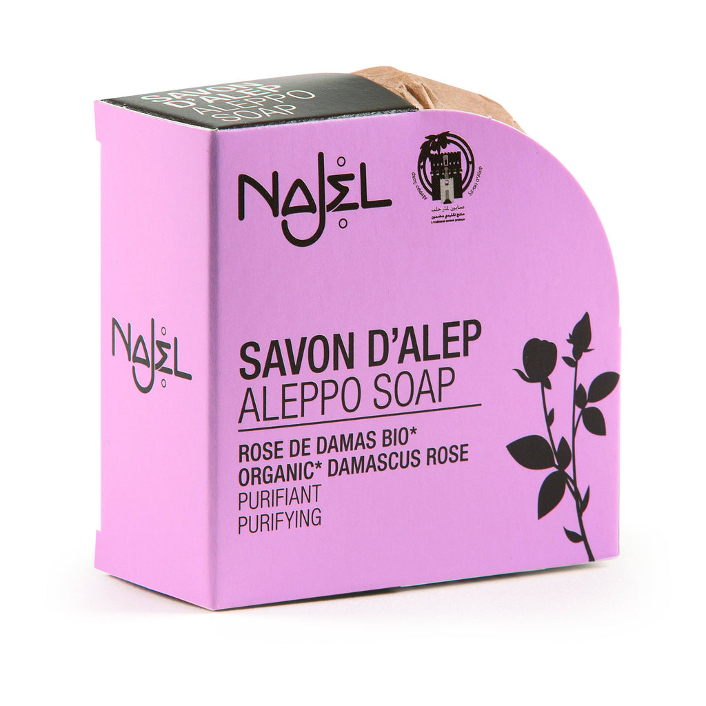 Najel Aleppo Soap with Organic Damascus Rose