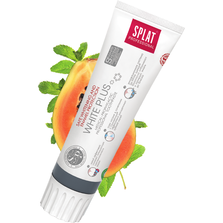 Splat White Plus Toothpaste - Safe Whitening & Protection