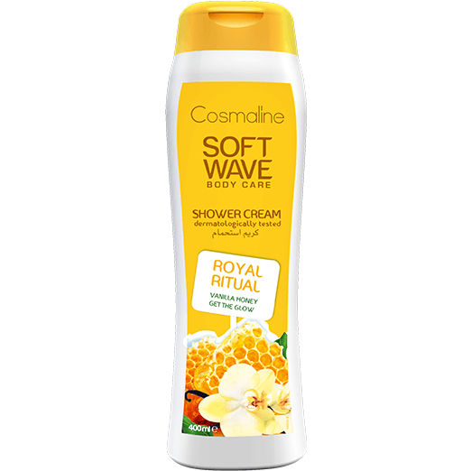 Cosmaline Soft Wave Royal Ritual Shower Cream - Vanilla Honey 400ml