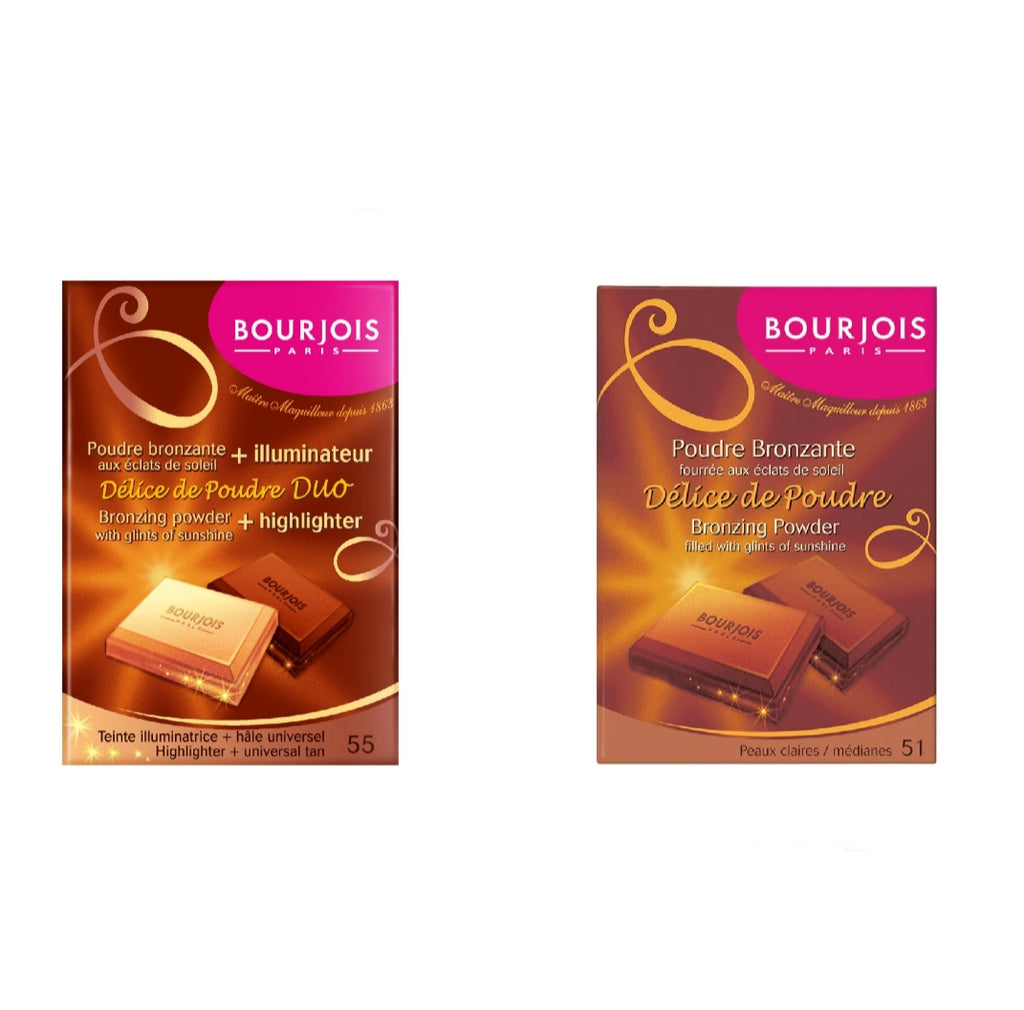 Bourjois Bundle Buy Delice De Poudre Bronzing Powder Get Highlighter 50% OFF