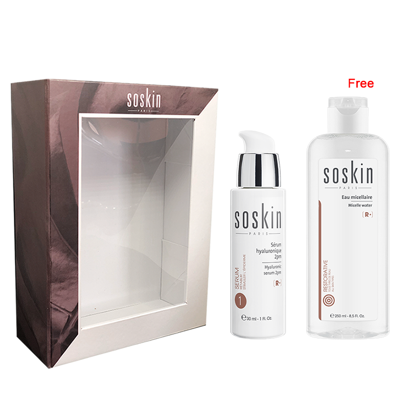 Soskin Holiday 2019 Set: Hyaluronic Serum 40ml + Micellar Water 250ml