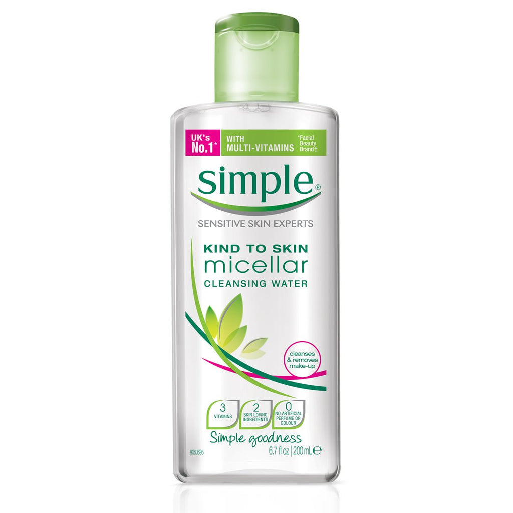 Simple Kind to Skin Face Micellar Cleansing Water