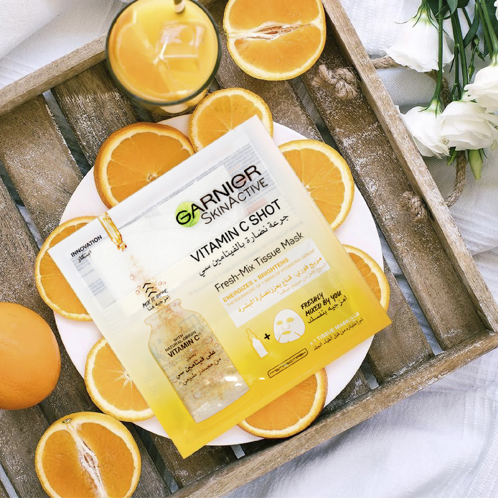 Garnier SkinActive Fresh Mix Vitamin C Shot Tissue Mask