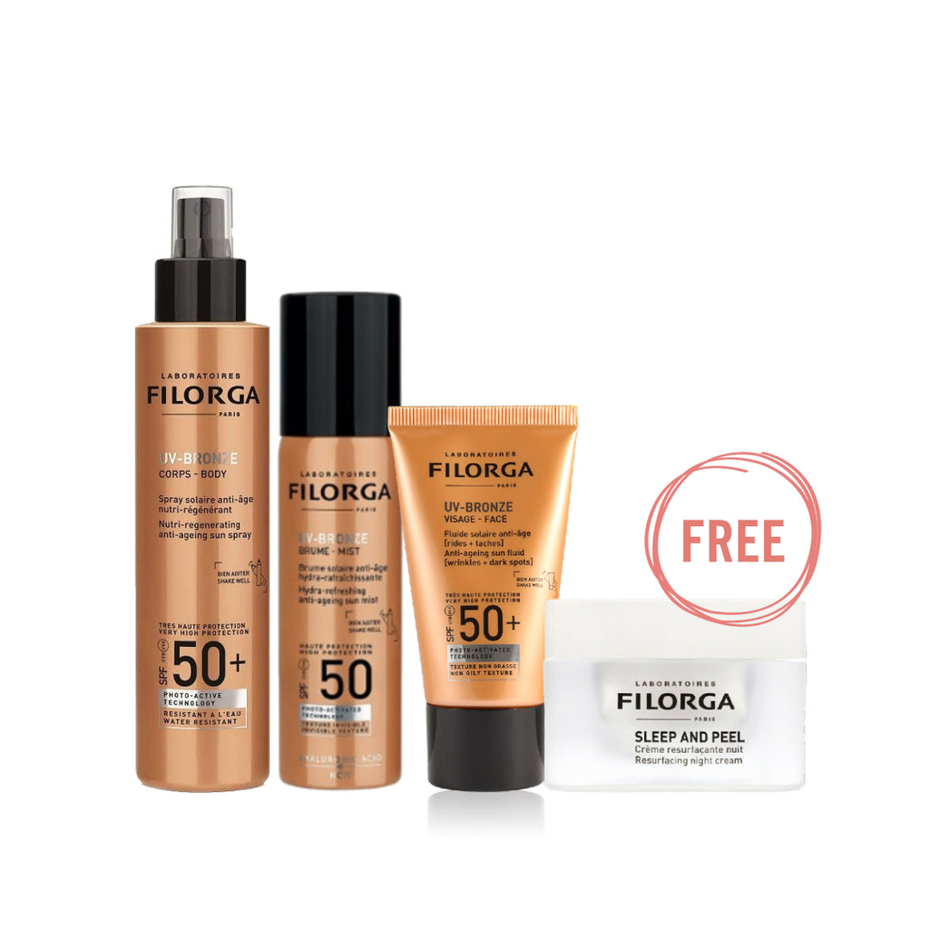 Filorga UV-Bronze Ramadan Bundle+ Free Sleep & Peel Night Cream
