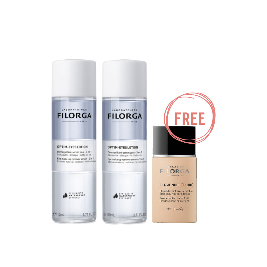 Filorga Ramadan Optim Eyes Lotion Bundle + Free Flash-Nude Fluid SPF30