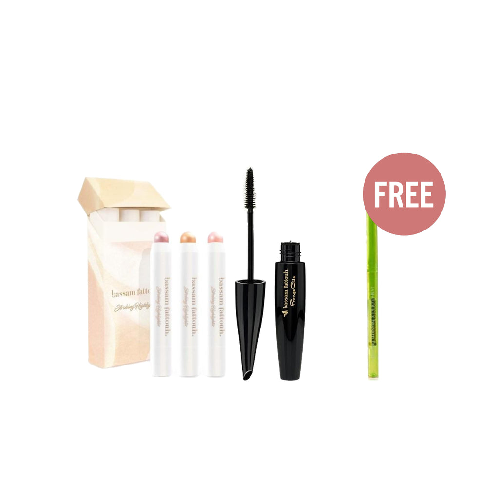Bassam Fattouh March Offer: Highlighter+ Mascara+ Free Neon Eye Pencil