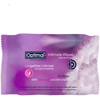 Optimal Intimate Wipes Soft and Fresh with Aloe Vera & Almond Oil