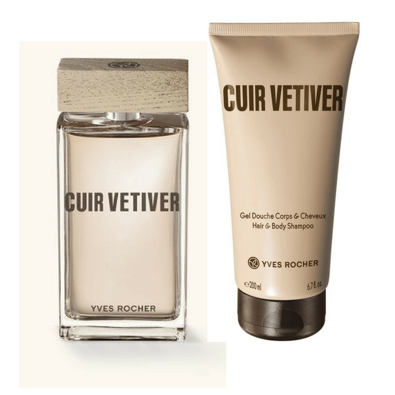 Yves rocher cuir vetiver gift set for men bath body for Mens bath set