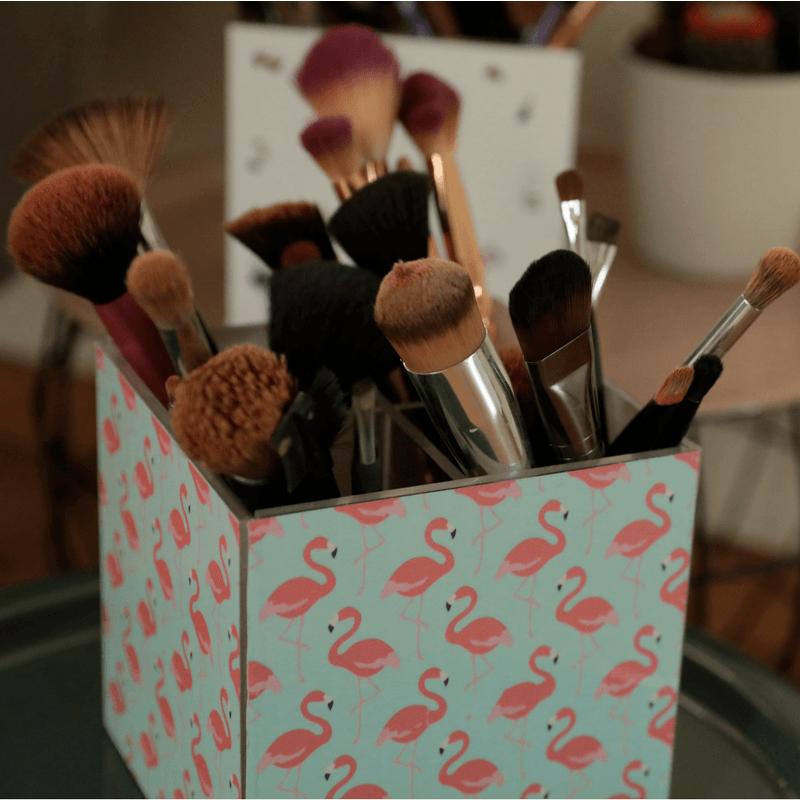 By Nadia M - Flamingo Brush Organizer