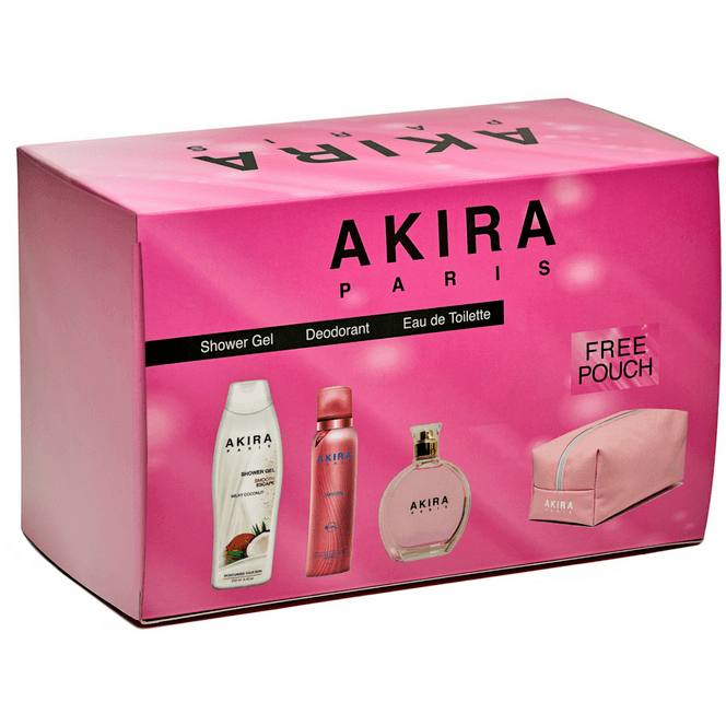 Akira Eau de Toilette Gift Set for Women + Free Pouch