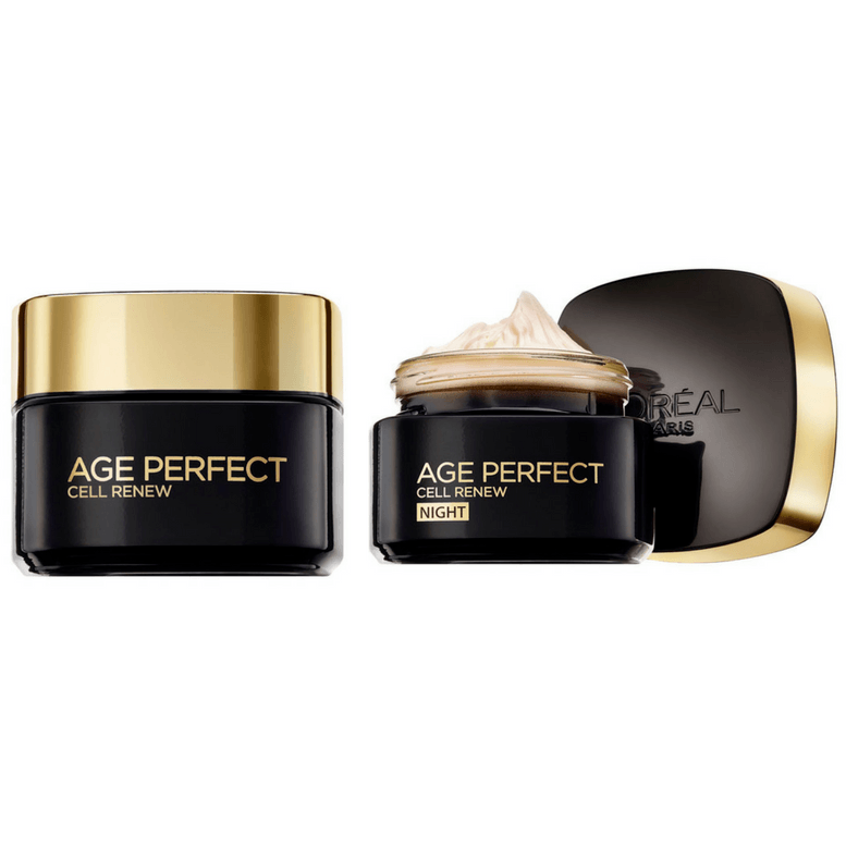 L'Oreal Paris Age Perfect Cell Renewal Day Cream + 50% on Night Cream + Free Pouch