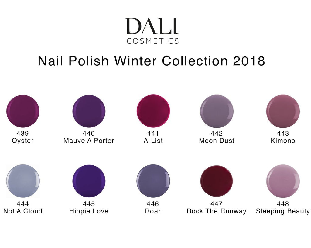 Dali Cosmetics Nail Polish - Winter Collection 2018