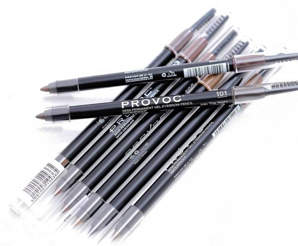 Provoc Semi-Permanent Gel Eyebrow Pencil Waterproof