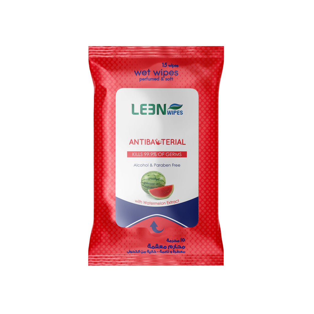 Leen Antibacterial Wipes - 15 Sheets