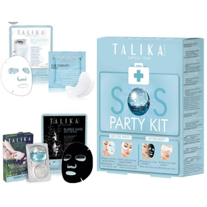 Talika SOS Party Kit of 4 Masks - Skin Preparation & Recovery Essentials