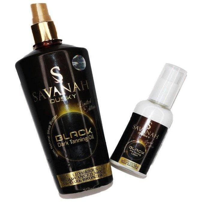 Savanah Dusky Black Tanning Oil + FREE Mini Pre-Tanning Lotion