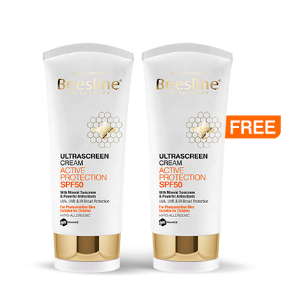Beesline Summer 2020: Ultrascreen Cream Active Protection SPF50 60ml Buy 1 Get 1 Free