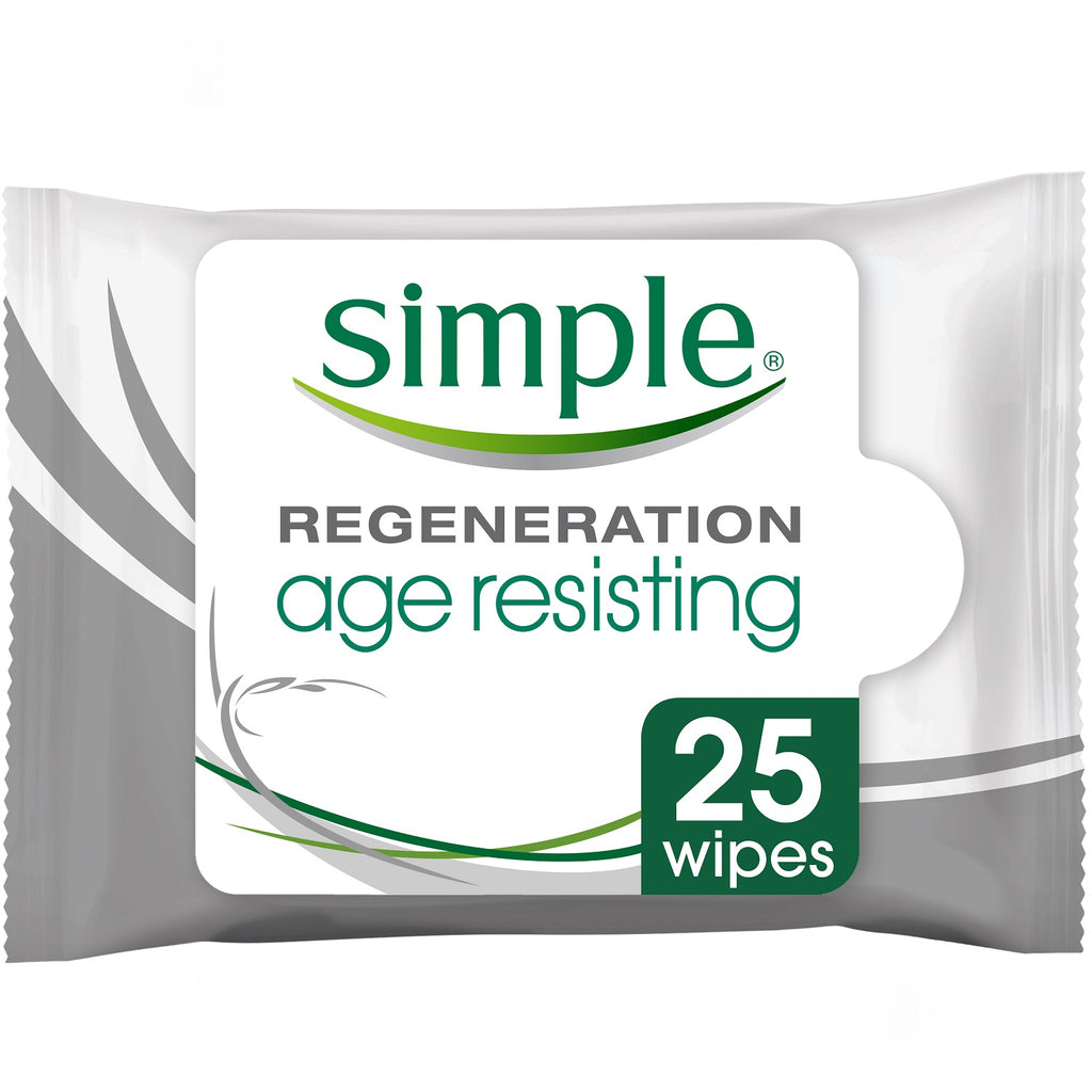 Simple Kind to Skin Regeneration Age Resisting Cleansing Wipes 25pcs - 50% OFF